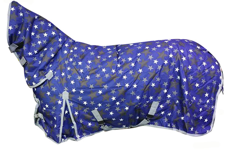 White Horse Super 200g Combo Horse Turnout Rug Blue Star